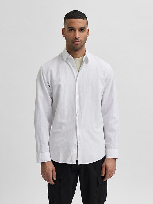 Camicia Lino e Cotone Organico Bianca