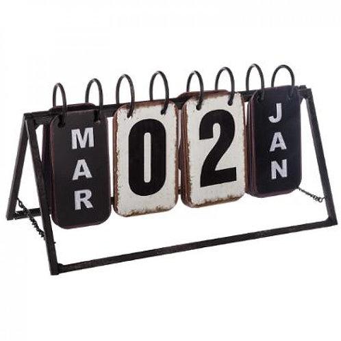 Calendario perpetuo in metallo