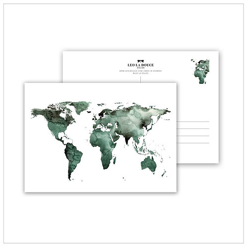 Cartolina - WORLD CARD GREEN