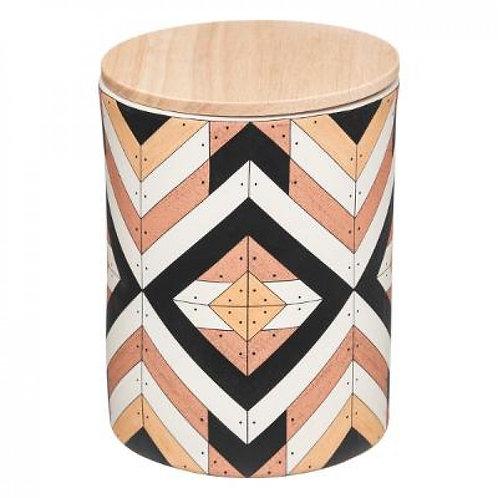 Barattolo in ceramica 2 colori