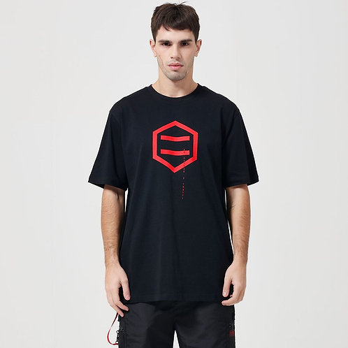 T-shirt Dolly Noire - Hexagon Black&Red