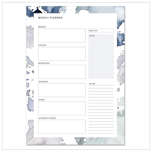 Weekly Planner - Pastel Stains No.1 - A4