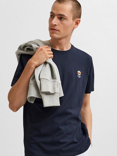 T-shirt Fate ricamo Blu