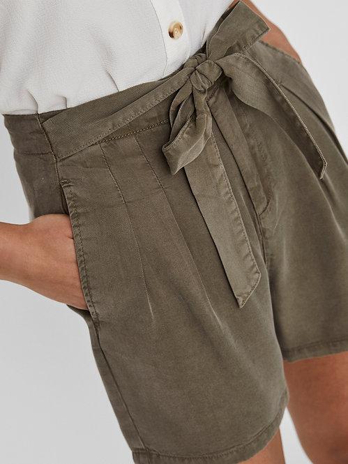 Short tencel marrone