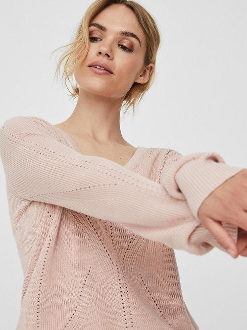 Maglione lexsun a v rosa