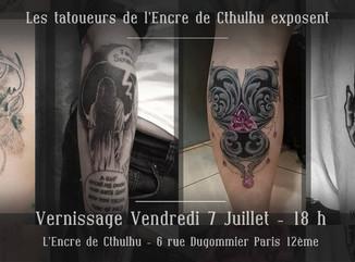Les tatoueurs du shop exposent tout l'été !