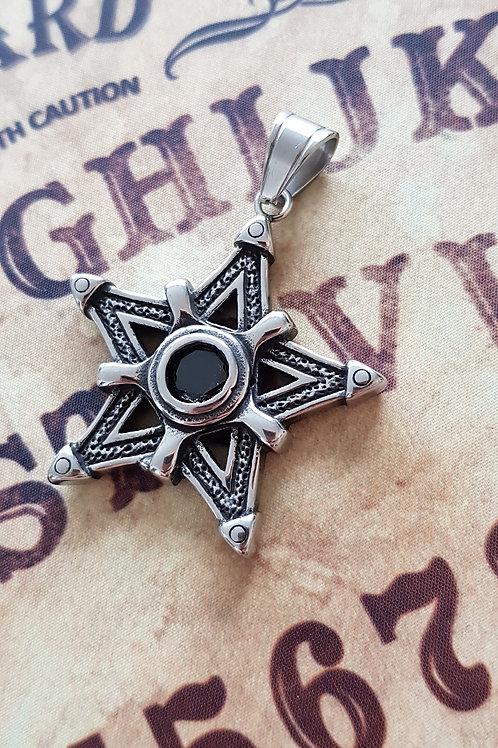 Pentagramme Cristal Noir