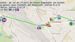 Travaux RATP en avril