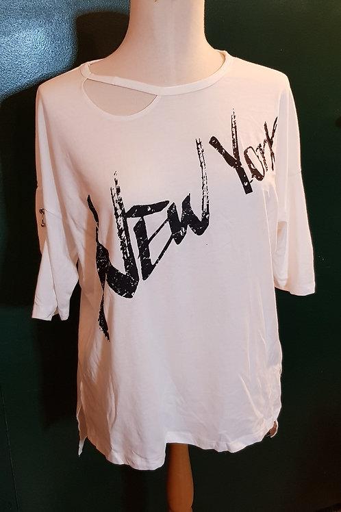 T-shirt New York avec piercings