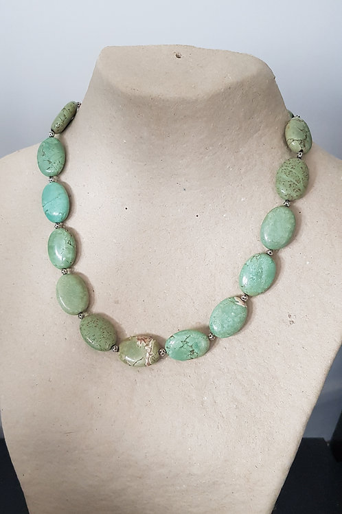 "Collier ""Olga"" - Turquoise et argent - Imtydan"