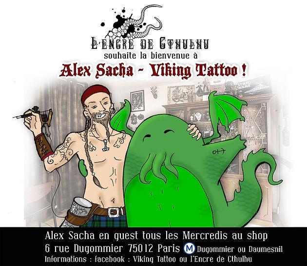 Alex Sacha Tatoueur alex sacha s'installe chez cthulhu ! | l'encre de cthulhu - tatouage