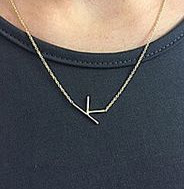 K Sideways Necklace
