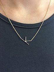 K Sideways Necklace