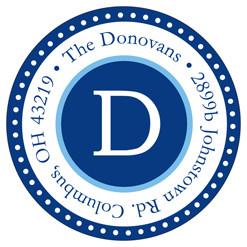 DD Darling Dot Border - RA200911RD - Navy/Lt.Blue