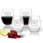 Glass Stemless Wine Tumblers