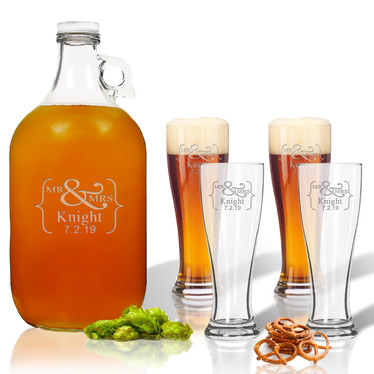 Glass Growler with Pilsner Set