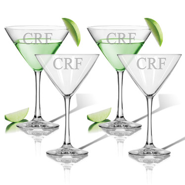 Glass Martini Set