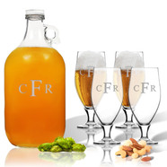 Glass Growler with Cervoise Set