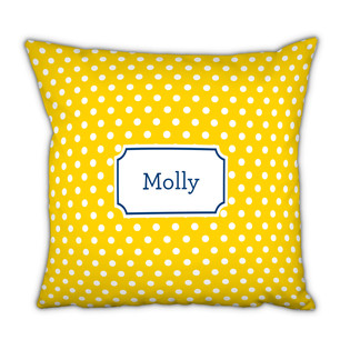 Polka Dots Sunflower Square