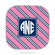 Repp Tie Pink & Navy