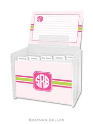 Seersucker Band Pink & Green