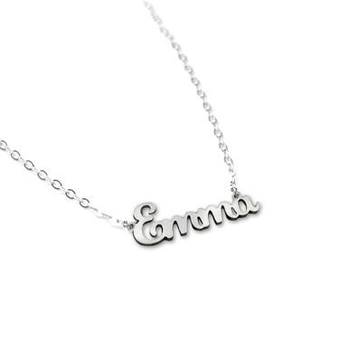 Carved Script Name Necklace