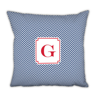 Houndstooth Navy Square