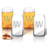 Glass Beer Can Glasses