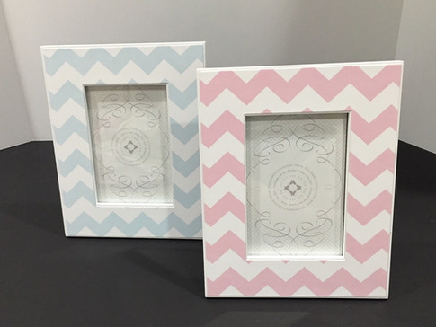 pink and blue chevron frames