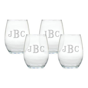 Glass Stemless Wine Tumblers