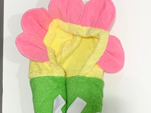 hooded towel  - flower