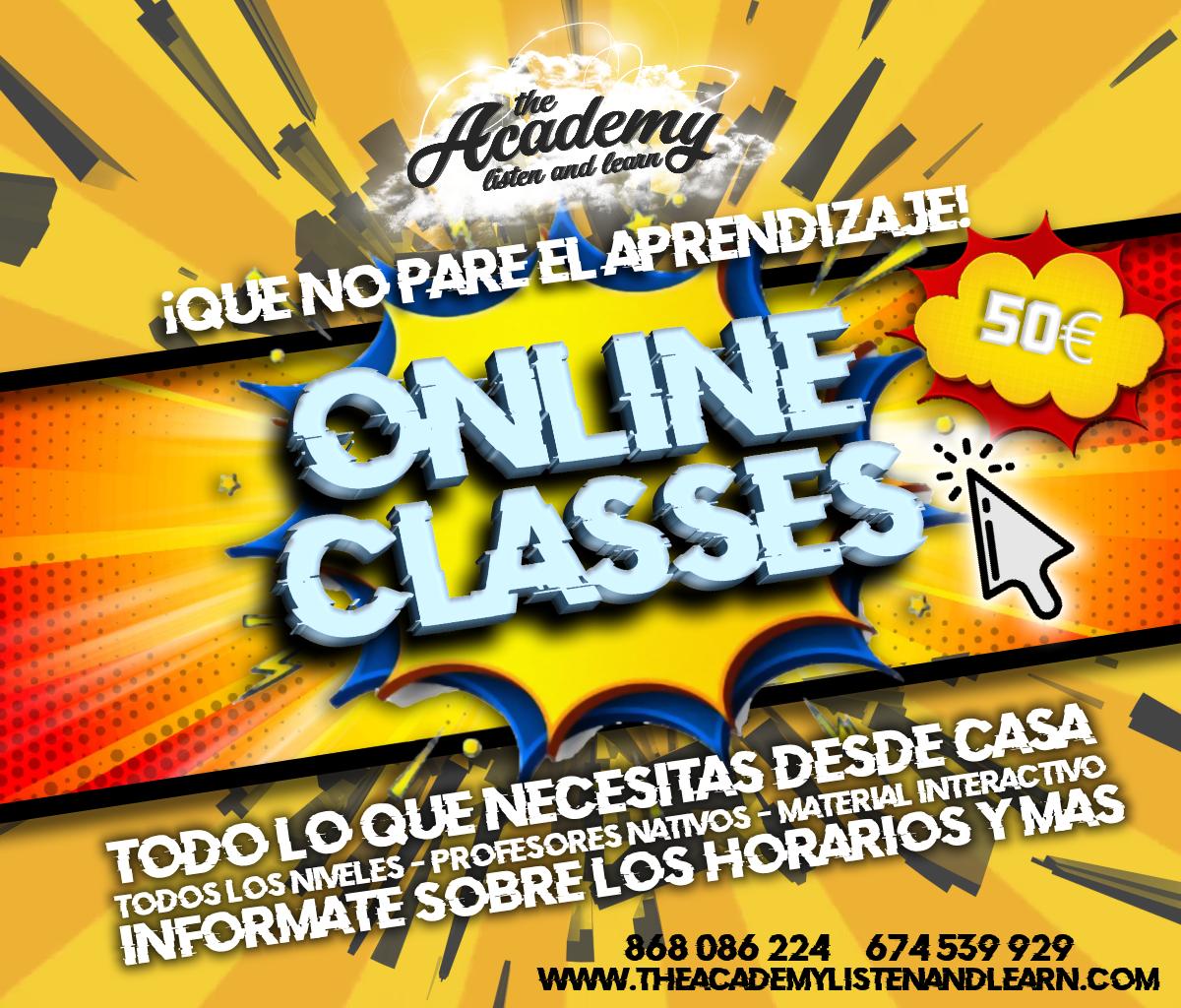Online classes ad