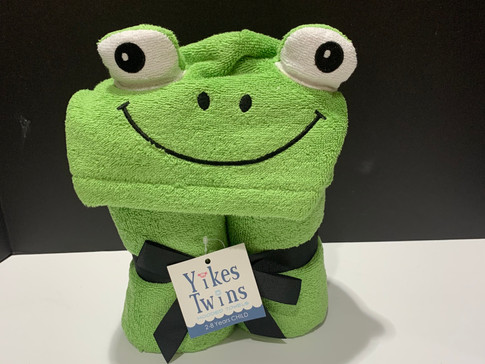 hooded towel - frog