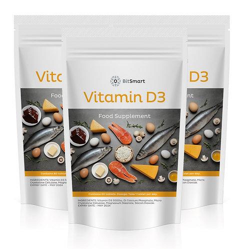 Vitamin D3 5000iu - Superfood (60 Tablets)