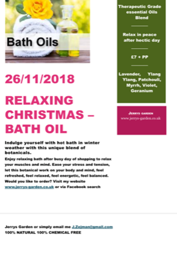 Relaxing Christmas Bath Oil