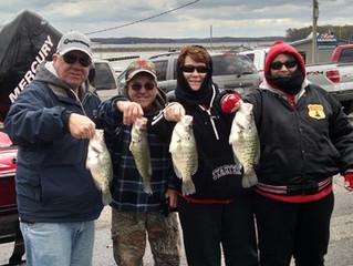 April Fishing on Kentucky Lake