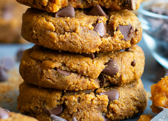 Pecan Pumpkin & Chocolate Chip Cookies (Half Dozen)