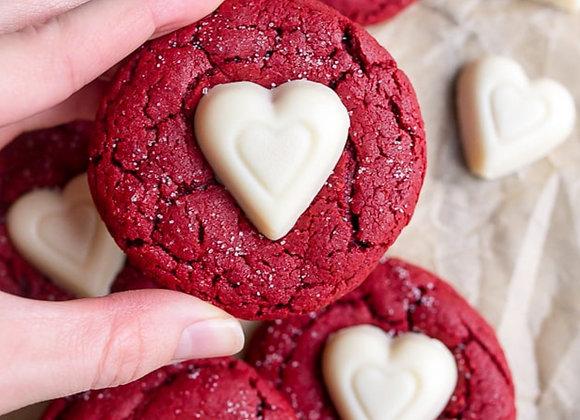 Red Velvet Valentine's Sugar Cookie
