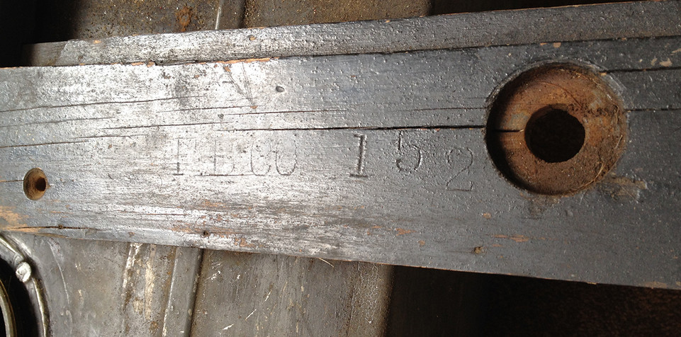 1911 Chalmers Seat Frame Rail