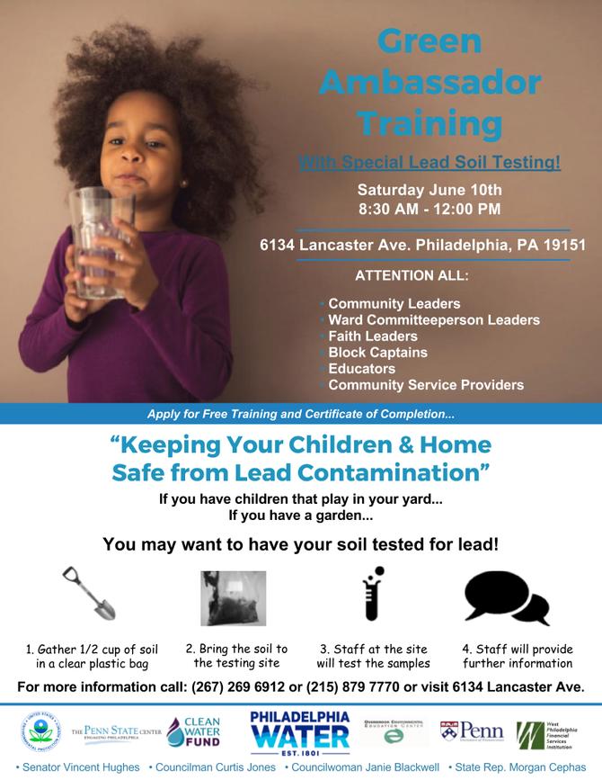 Soil Lead Testing - Green Ambassador Training