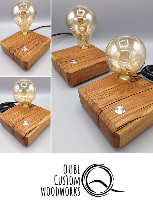 Oak Edison Led Lamp