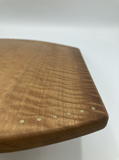 Serving tray - cutting board with brass inlay