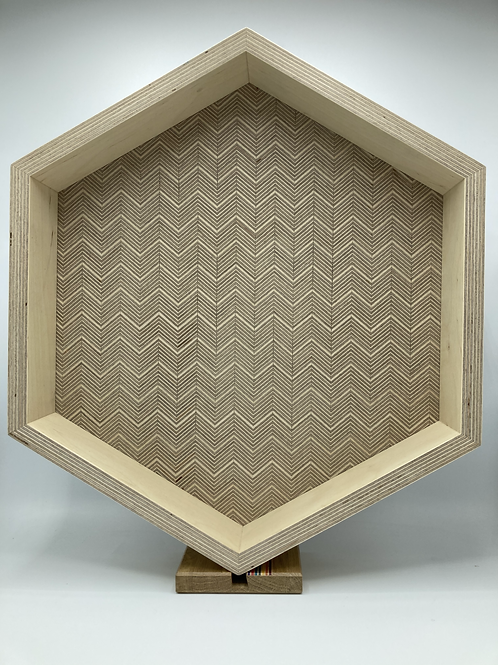 Patterned plywood serving tray