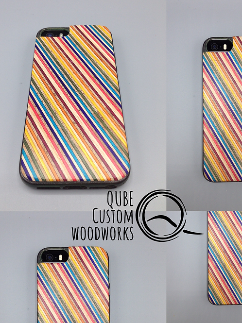Iphone case with rainbowwood