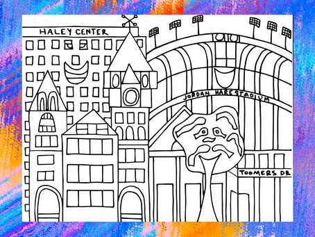 Free Auburn Coloring Page