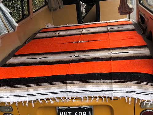 Heavy Weight Diamond Mexican Blanket - Orange