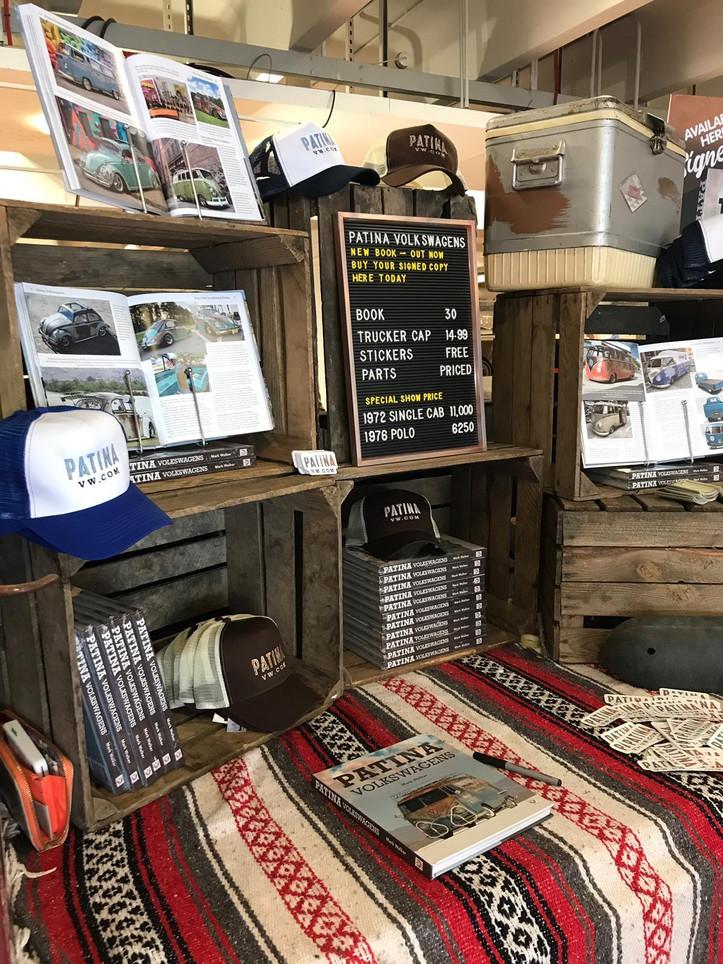 Books & merch on sale at Volksworld 2019