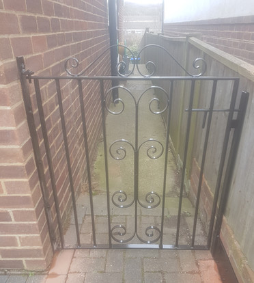 Small decorative garden gate