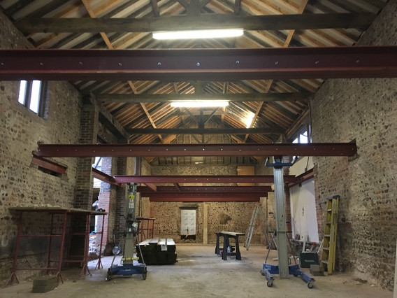 Steel beams for barn coversion