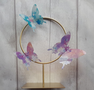 Wedding Butterfly Gold hoop Table centre piece